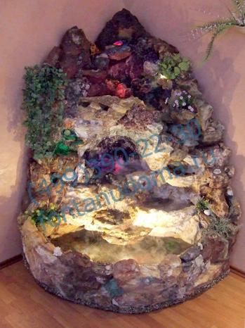 Напольный фонтан для дома из натурального камня